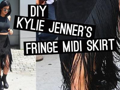 DIY: Kylie Jenner's Fringe Midi Skirt (STYLEWIRE)