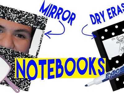 DIY | Notebook Upgrades - BACK TO SCHOOL DIY!!! HOW TO MAKE A MIRRORED NOTEBOOK!!!