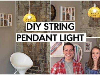 DIY String Pendant Light   Tanner & Courtney
