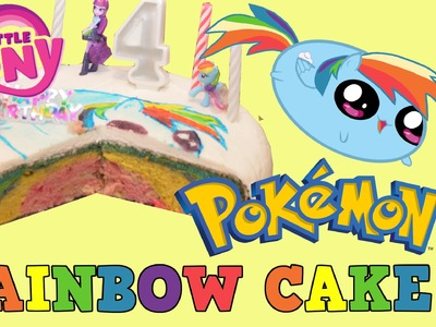 Ella's Birthday My Little Pony Rainbow Dash Pokemon Go RAINBOW CAKE