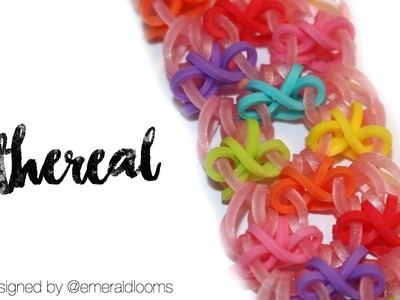 Ethereal | Rainbow Loom Hook Only Design by @emeraldlooms