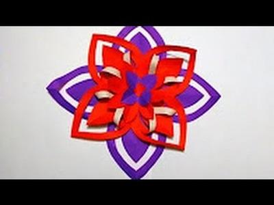 Ganesh chaturthi floral decor | Diy paper flower making video