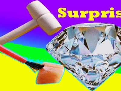 GIANT SURPRISE DIY Mystery DIAMOND or Rock ? Kids Dig It Huge Surprise Family Fun Activity