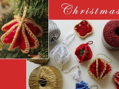 Granny square Christmas tree ornament