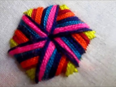 Hand Embroidery | Rainbow Stitch