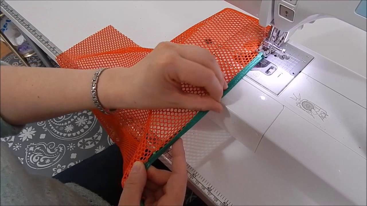 How to add Fold Over Elastic to the top of Mesh Pockets by Mrs H