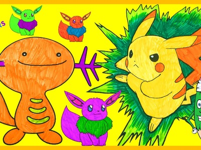 ✏️How to color Pokemon #Pokemon Coloring Book, #Pikachu Character, #SpeedColoring