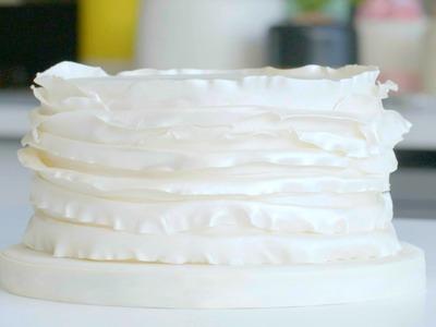How to create a ruffle effect cake | Cake Creations