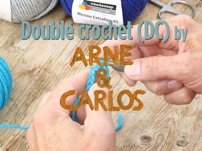 How to crochet - 4. Making a double crochet stitch - by ARNE&CARLOS