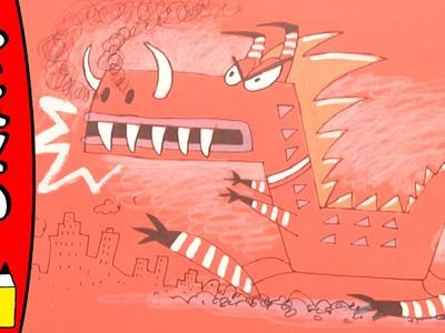 How To Draw Godzilla | Art Ideas For Kids | Øistein Kristiansen