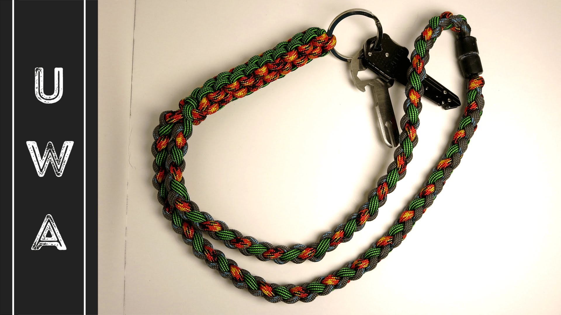 How To Tie A Four Strand Crown And Diamond Knot Paracord