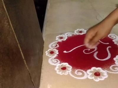 How to make easy Rangoli Ganesha in 5 minutes