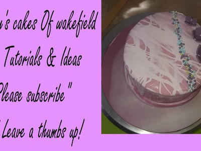 How to make mirror icing glaze for cakes 2 tone effect