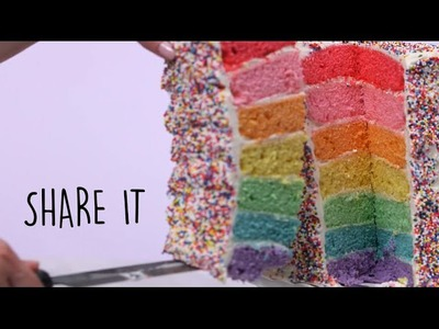 How to Make Rainbow Layer Cake | Trending Tastes | MyRecipes