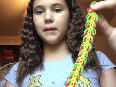 How To Make The Triple Link Rainbow Loom Bracelet |Tutorial|