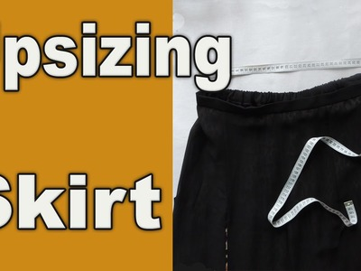 How to upsize a tight skirt in waist