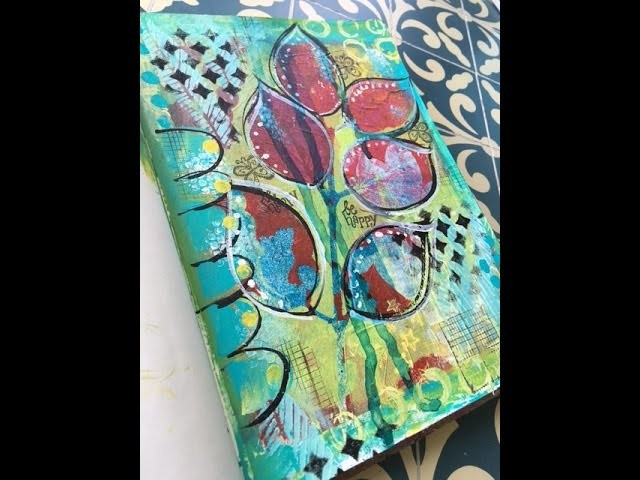 How to use your Gelli Prints in your art Journal