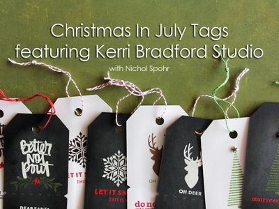 Kerri Bradford Studio   Black & White Christmas Stamped Tags
