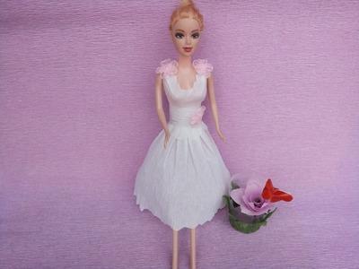 Made wedding dresses for Barbie paper part 2 | Làm váy cưới từ giấy cho Barbie Tập 2