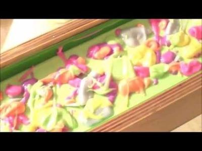 Making Rainbow Sherbet Cold Process Soap- Layered Soap