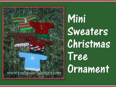 Mini Sweater Christmas Ornament Crochet Pattern