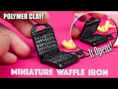 Miniature Polymer Clay Waffle Iron. Maker. Tefal Inspired