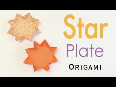 Origami Paper 8 Sided Star Plate Tutorial - Origami Kawaii 〔#160〕