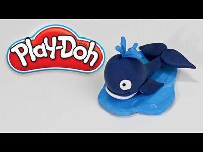 Play Doh How To Make Whale Water Spout Funny 3D Plasticine Creations