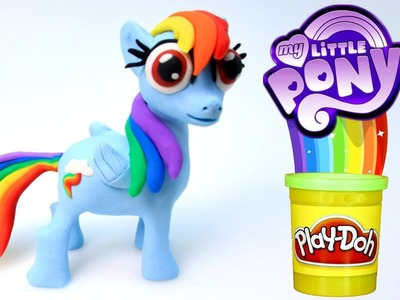 Play Doh Stop Motion with My little Pony Rainbow Dash Fun Creative for Kids