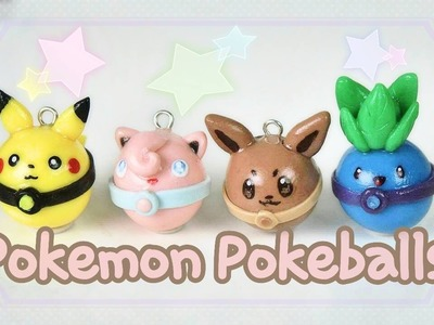 Pokemon as Pokeballs | 4 Polymer Clay Tutorials ♡ BerryWhimsy