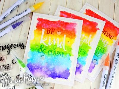 Rainbow Background + Faux Letterpress + Concord & 9th Birthday