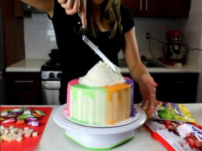Rainbow Hi-Chew Cake