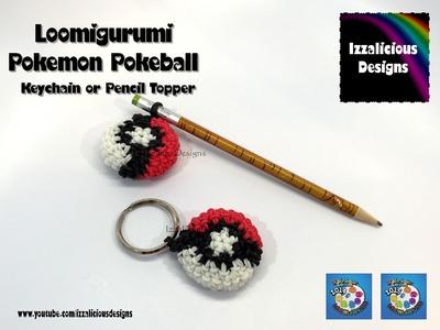 Rainbow Loom Loomigurumi Pokemon Pokeball Keychain Keyring Pencil Topper