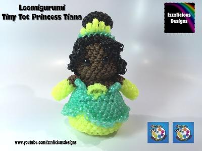 Rainbow Loom Loomigurumi Tiny Tot Princess Tiana  The Princess & The Frog made w. Rainbow Loom Bands
