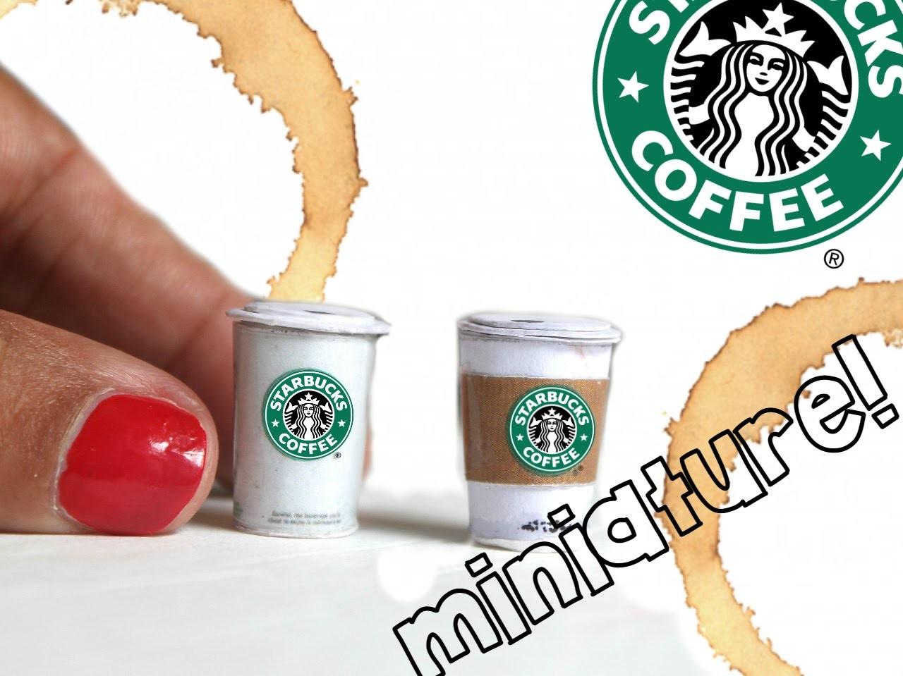 REALISTIC miniature Starbucks coffee tutorial! NO POLYMER | Dollhouse miniatures