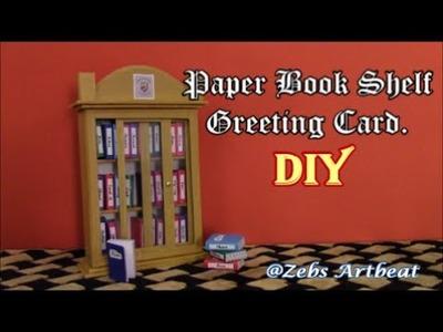 Sliding Door Bookshelf with mini Greeting Cards DIY!