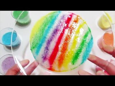 Slime Como hacer un Arcoiris con Arena de Colores