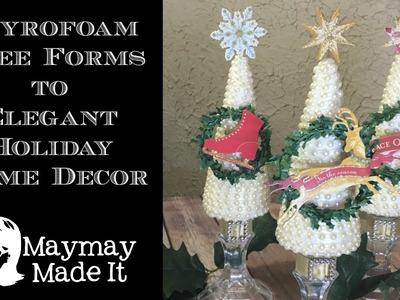 Styrofoam Cones and Pearl Christmas Trees G's Embellishment Emprorium Design Project
