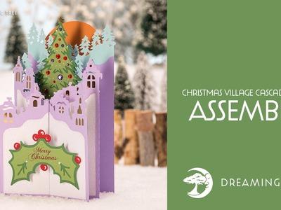 SVG File - Christmas Village Cascade Card - Assembly Tutorial