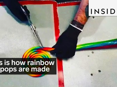 This is how rainbow lollipops are made