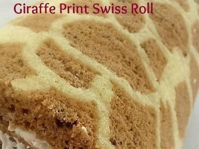 D.I.Y All the Time! Giraffe Print Swiss Roll