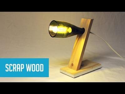 DIY Balancing Wine Bottle Lamp