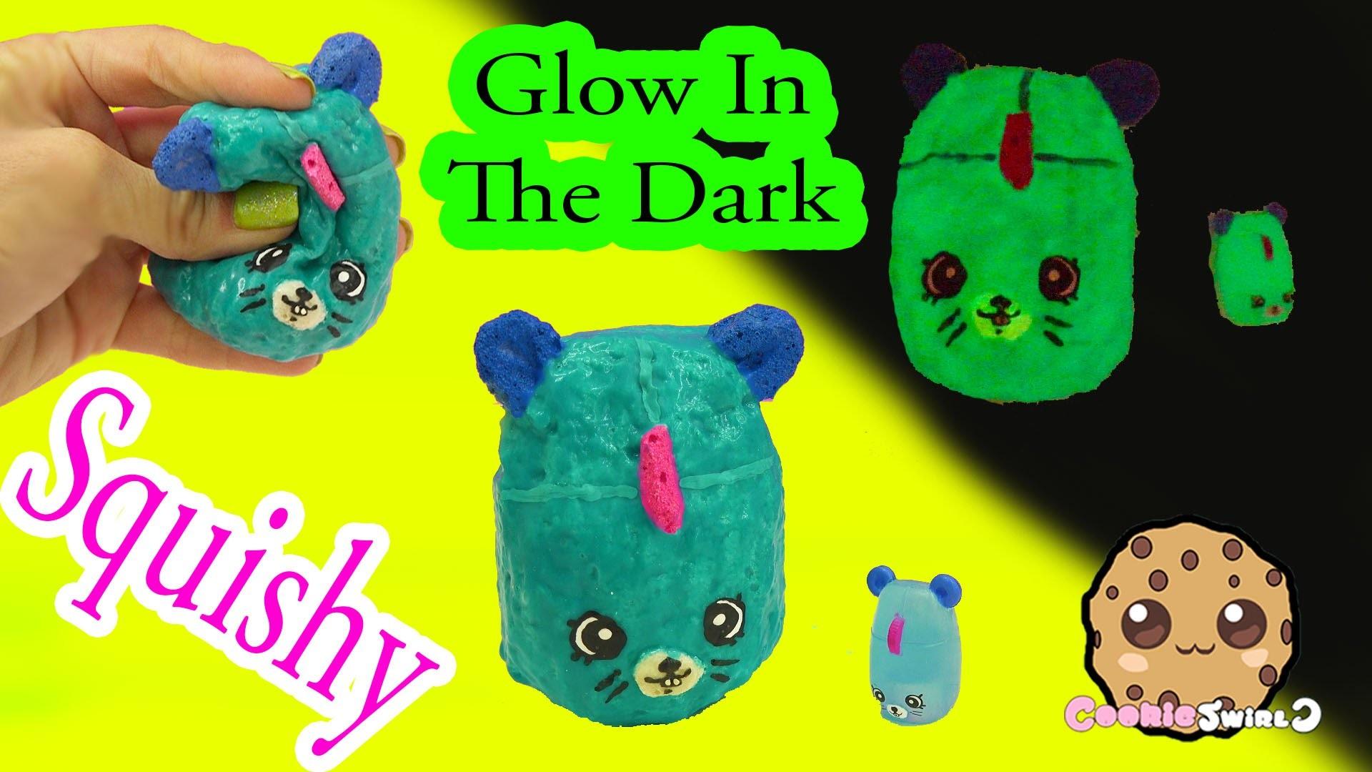 DIY Glow In The Dark Squishy Shopkins Season 5 Petkins Inspired Craft Do It Yourself by Cookieswirlc