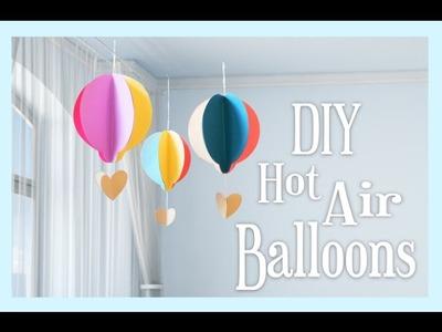DIY Paper Hot Air Balloon Craft