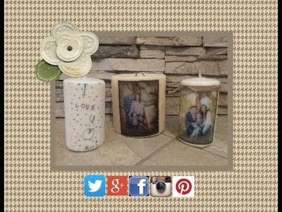 DIY Picture Candle