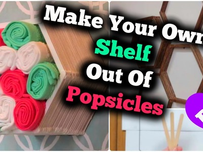 DIY Shelf Out Of Popsicles