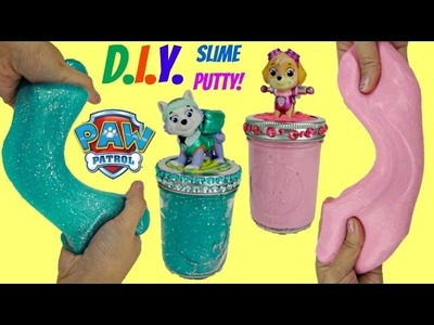 DO-IT-YOURSELF Paw Patrol Glitter Slime Putty DIY With Skye & Everest, Doh Vinci Toy Craft. TUYC