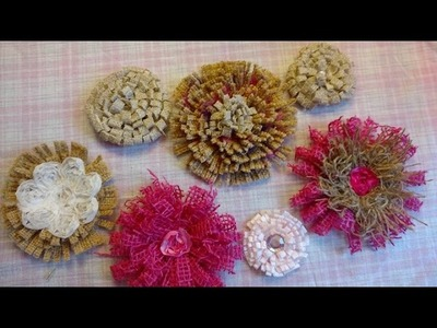 Easy DIY Burlap Flower Inspired by Megan Heft