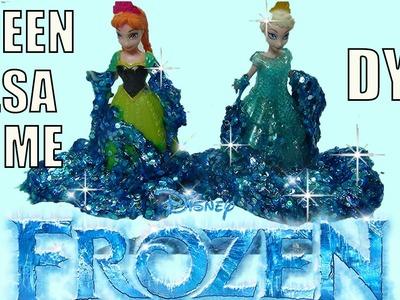 GLITTER #SLIME Disney Frozen Queen Elsa SLIME #DIY At Home Glittery Gak Slime Flubber