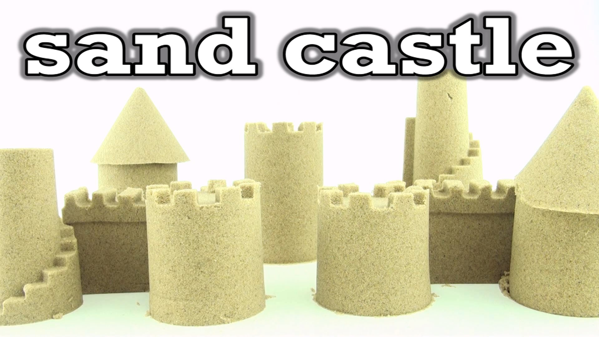 How to build a Kinetic Sand Castle - DIY Sand Castle with magic sand and toy tools
